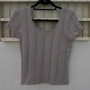 Madewell | Pointelle Ribbed Tee NWOT